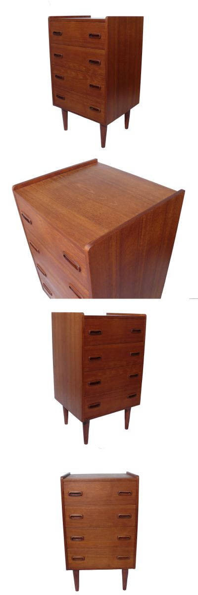 A small Danish four drawer chest c1960s