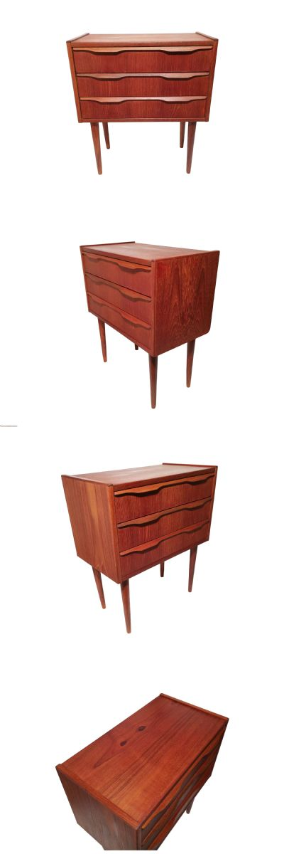 A small teak chest of drawers c1970s