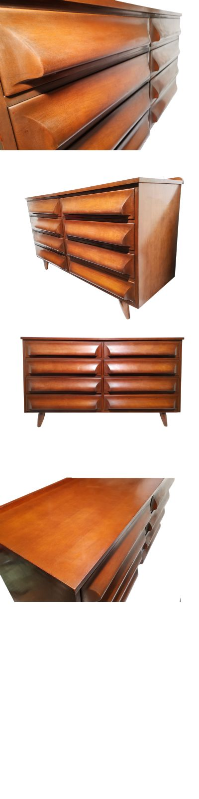 A stained Maple chest of drawers by Franklin Shockey, America c1960s