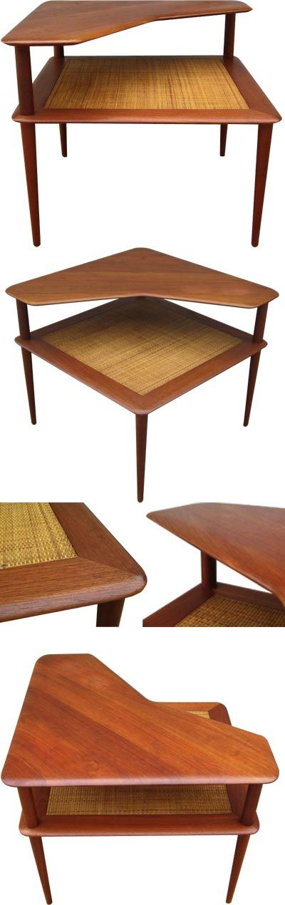 A large teak coffee, c1960s. This table was designed by Peter Hivdt + Orla Molgaard Nielsen. A true classic.